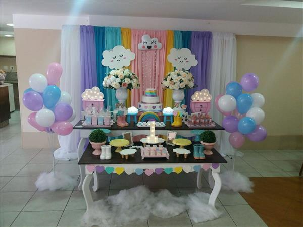 decoração para aniversario chuva de amor