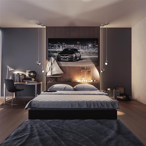 quarto masculino decorado