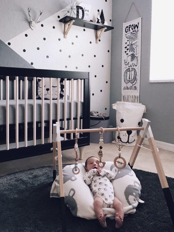 decoração quarto de bebe cinza