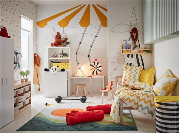 quarto infantil amarelo