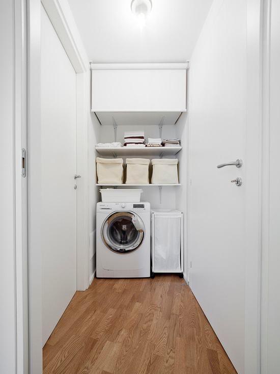 lavanderia pequena no corredor