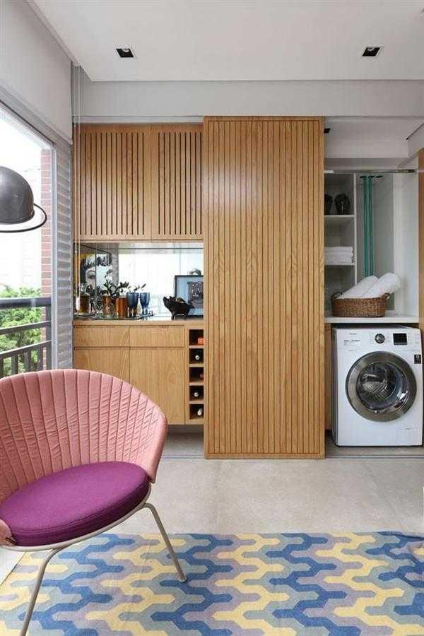 lavanderia com porta