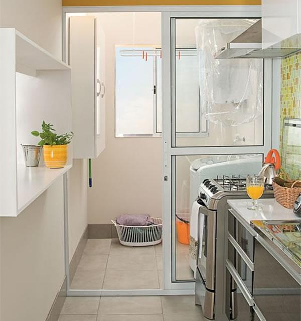 lavanderia na cozinha