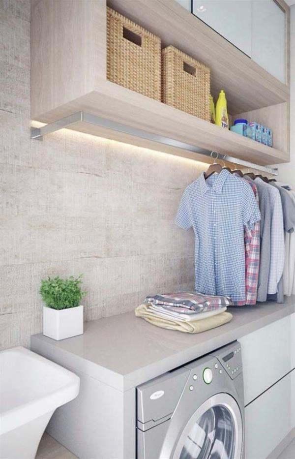 lavanderia com moveis planejados