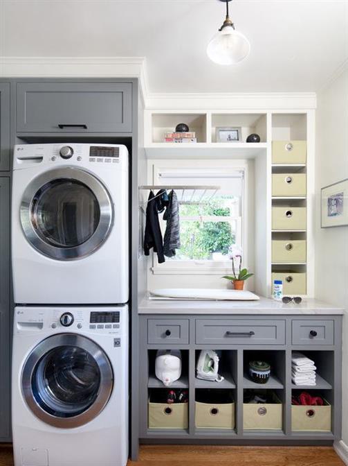 como organizar uma lavanderia