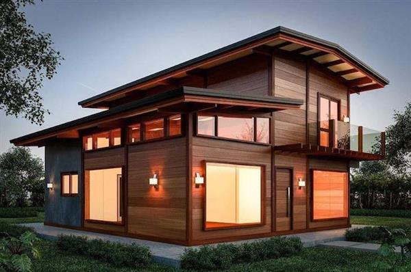 casas de 2 andares de madeira