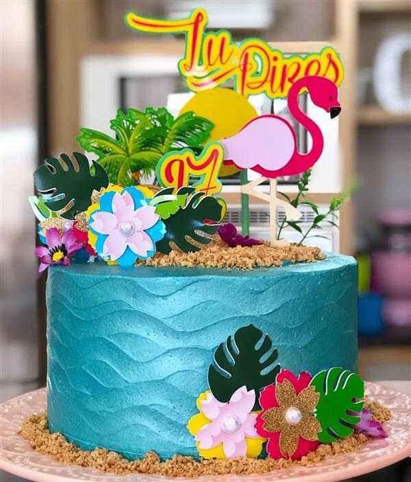 bolo fake festa tropical