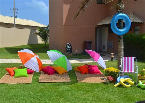 festa tropical ao ar livre