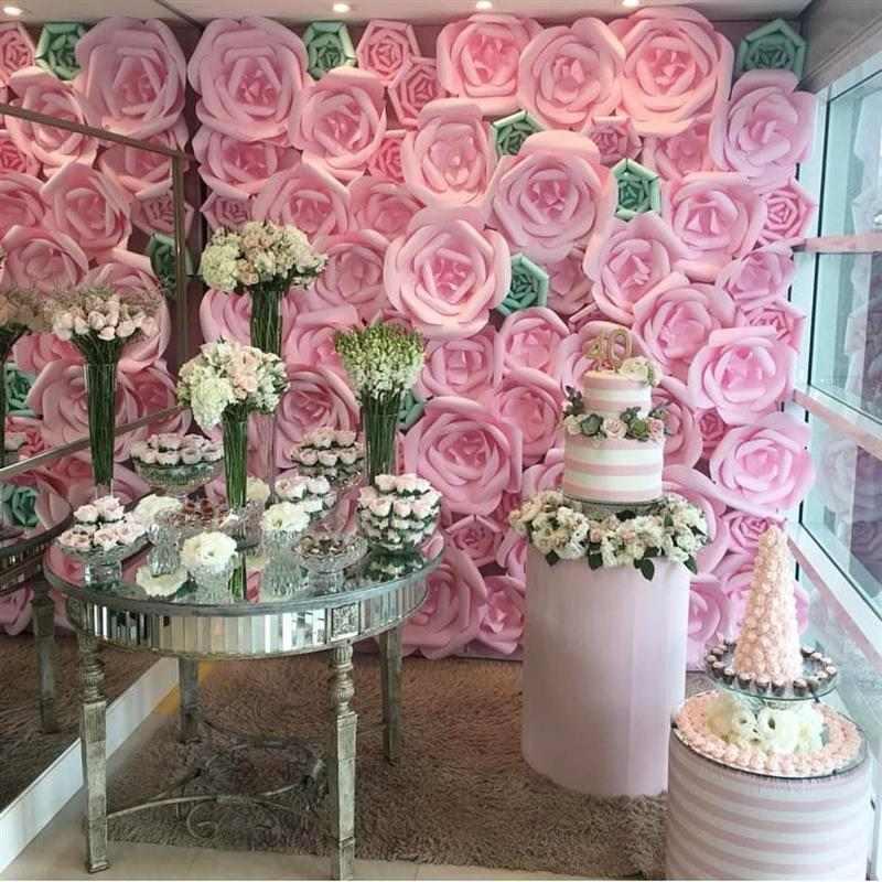 painel de flores gigantes para aniversário