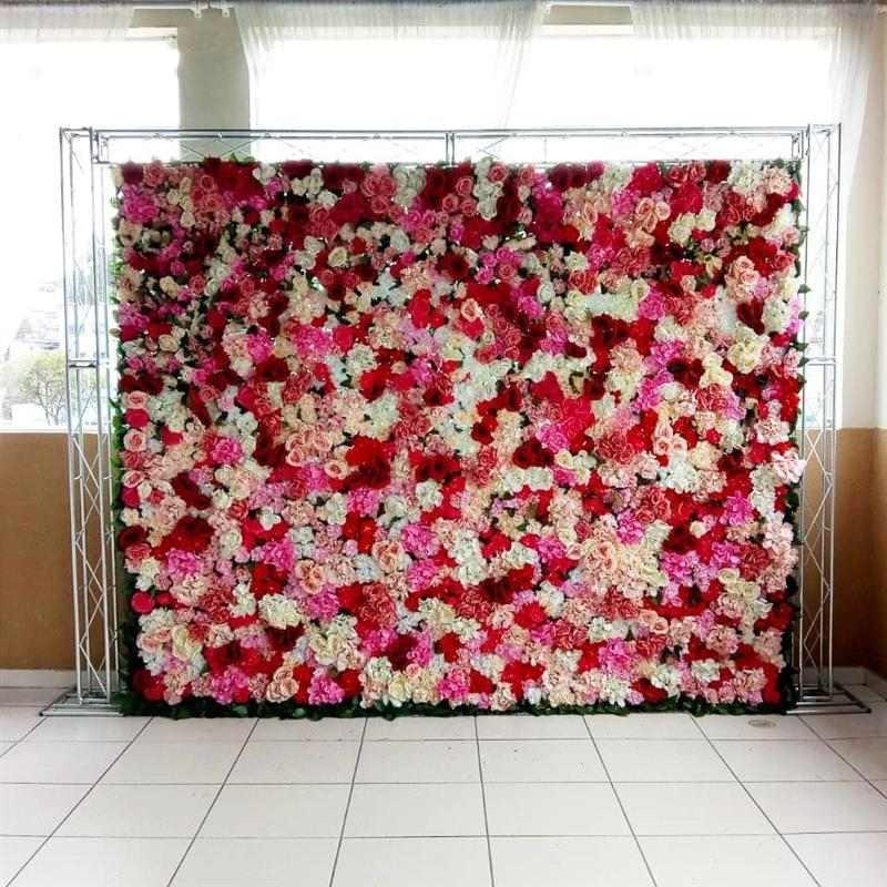 painel com flores diversas