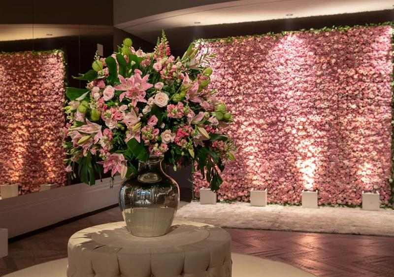 painel com flores