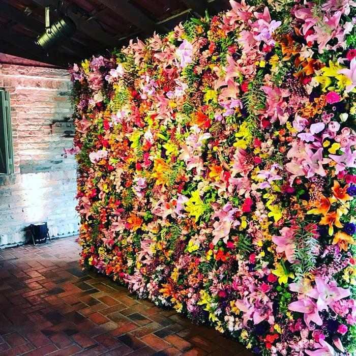 paredão de flores