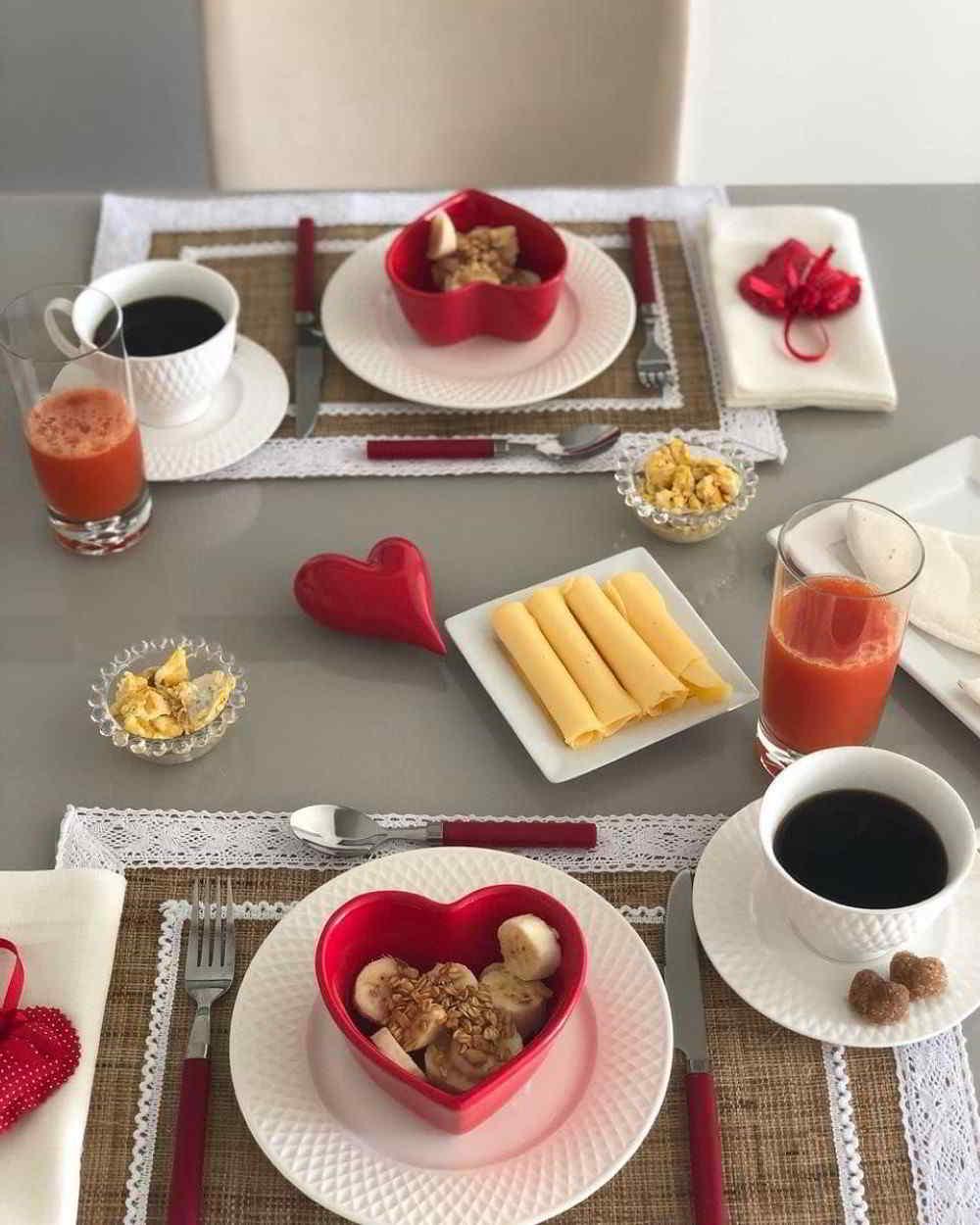 café da manha dia dos namorados