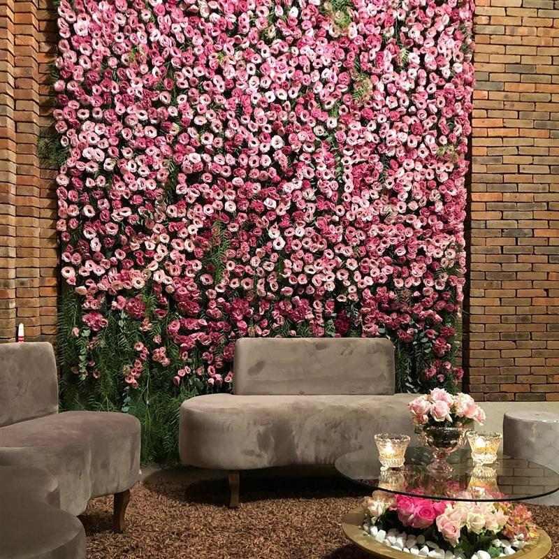 painel de flores para entrada