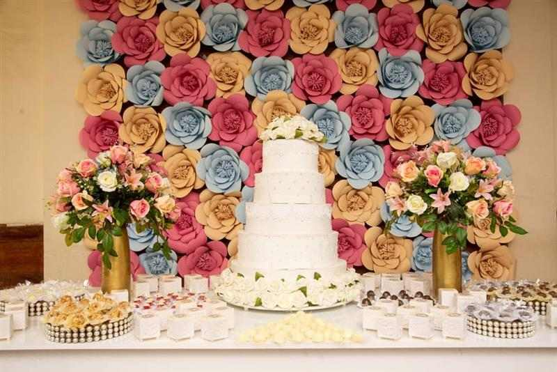 painel para decorar mesa de bolo