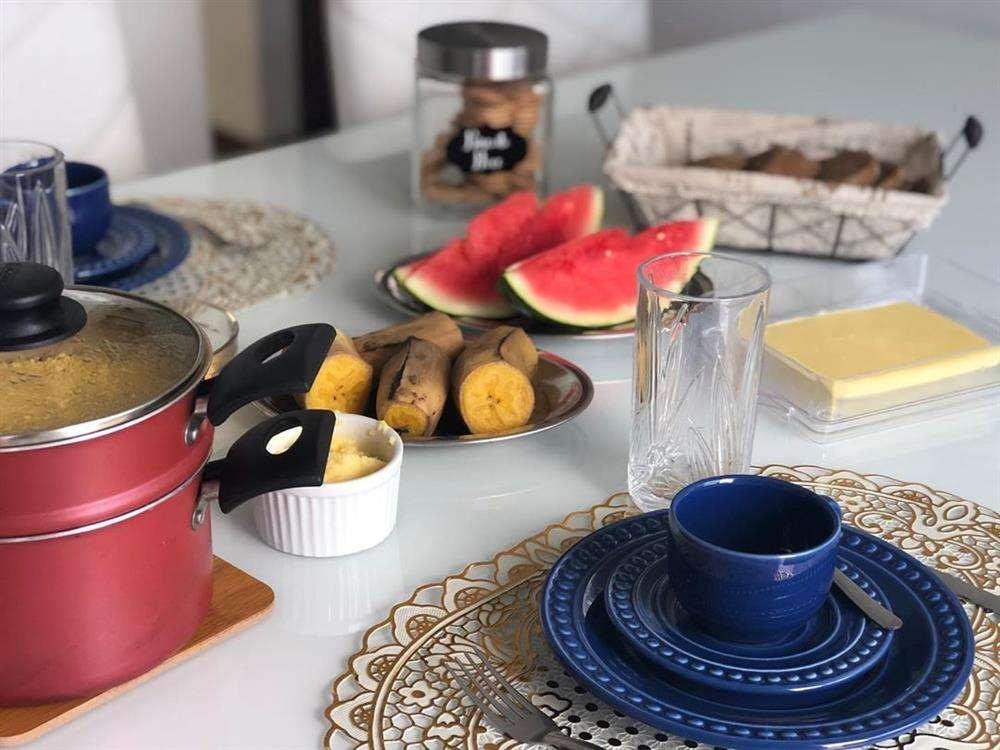 decoração de mesa de cafe da manha