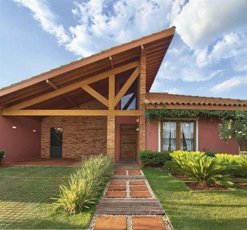 casa estilo de telhado estilo colonial