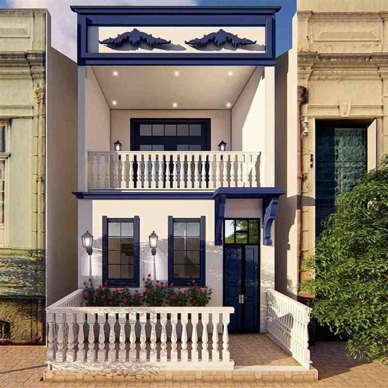 casa pequena estilo colonial