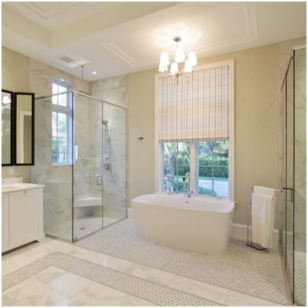 banheiro com banheira luxuosa