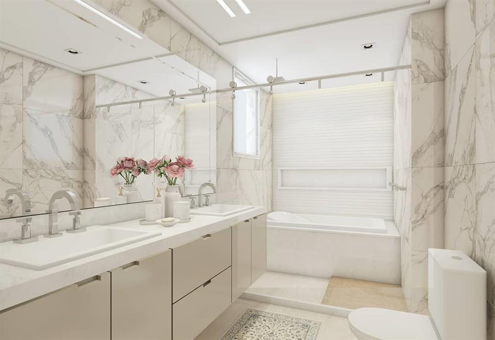 medidas de banheiro com banheira