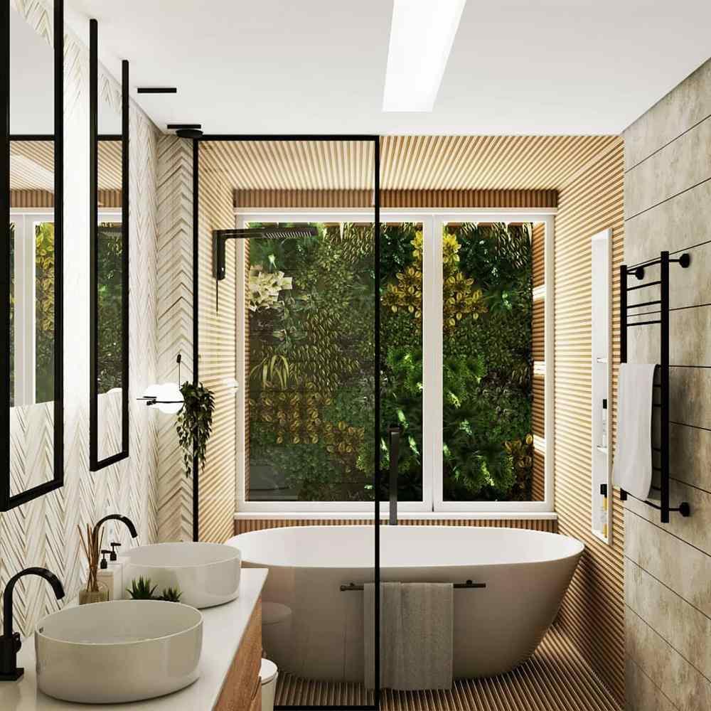 banheiro de casal com banheira