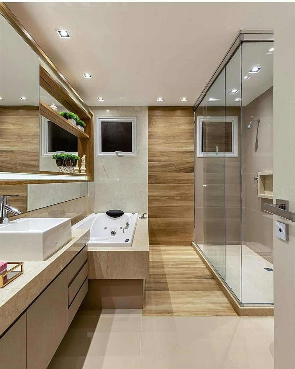 banheiro lindo com banheira