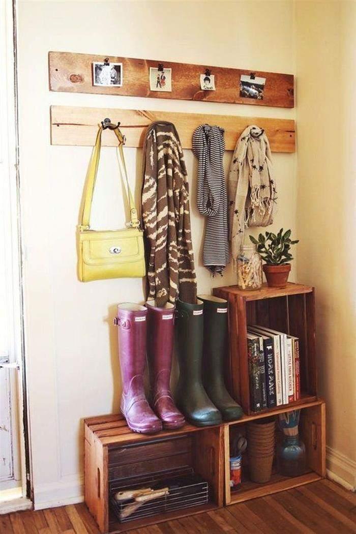como decorar com caixote de madeira