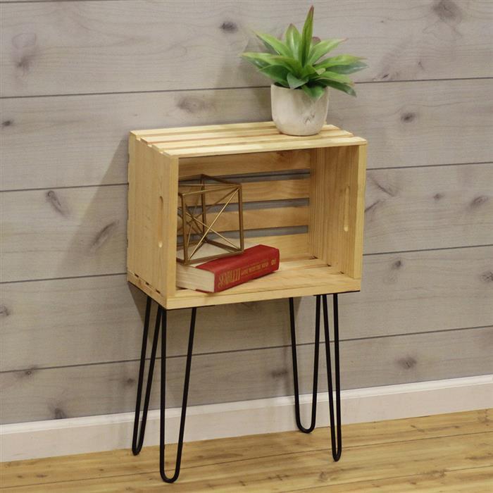 decoração de quarto com caixote de madeira