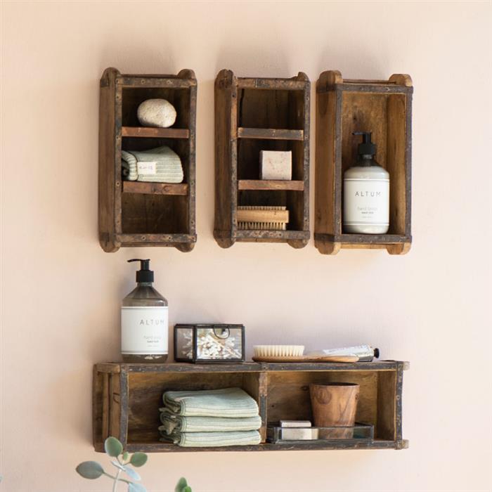 decoração rustica com caixotes de madeira