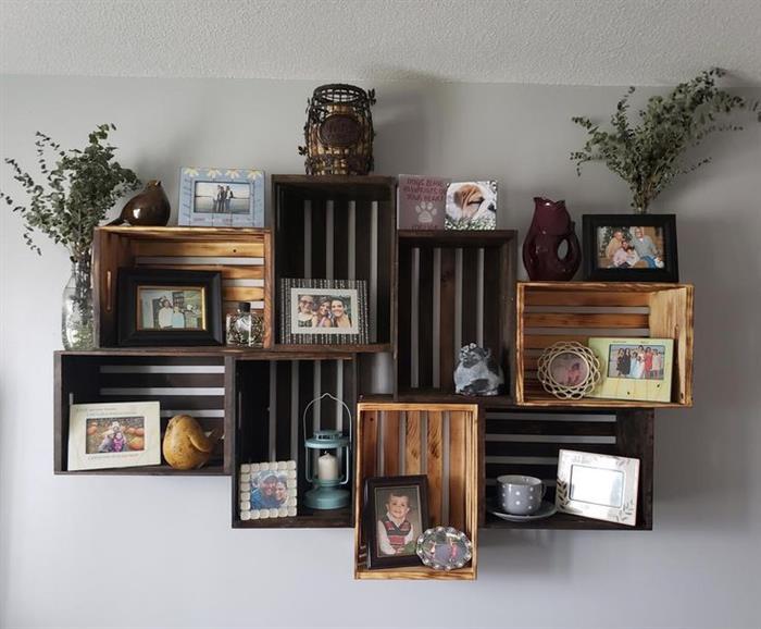 ideias para decorar com caixotes de madeira