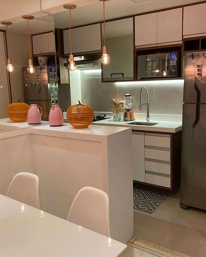 luminaria para bancada de cozinha americana