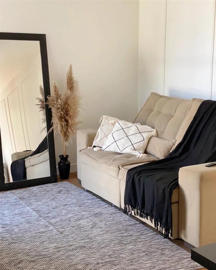 como usar manta no sofá retrátil