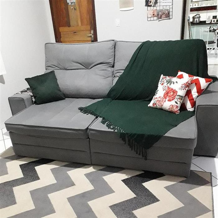 manta para sofá com franja