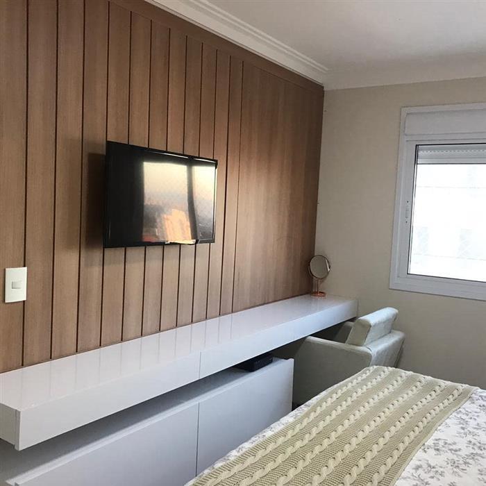bancada para quarto com tv